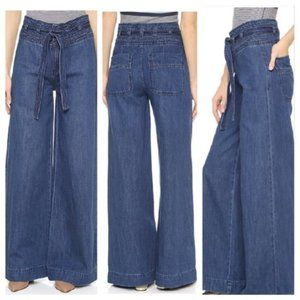 Free People Augusta Belted Flare Jeans